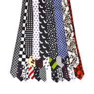 Poly Printed Slim Ties