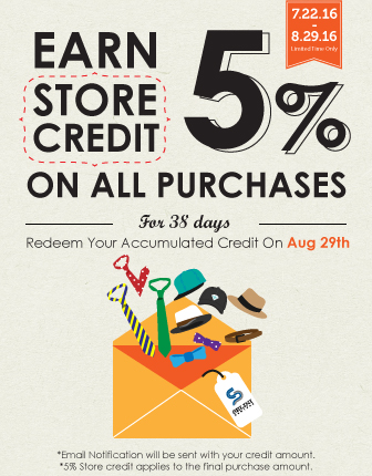 Earn 5% Store Credit