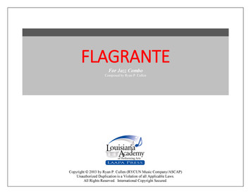 Flagrante - for Jazz Combo (Score/Parts - PDF)