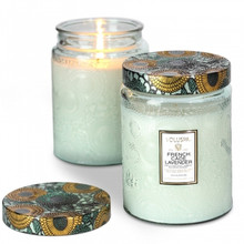 Voluspa Japonica Collection French Cade & Lavender Limited Edition Glass Jar Candle