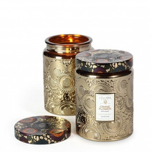 Voluspa Japonica Collection Crane Flower Large Embossed Glass Jar Candle