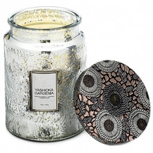 Voluspa Japonica Collection Yashioka Gardenia Limited Edition Glass Jar Candle