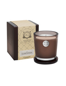 Aquiesse Portfolio Collection Luxe Linen Large Soy Candle