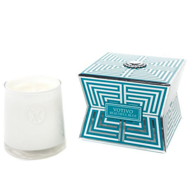 Votivo Soziety Collection Beautiful Blue Jar Candle