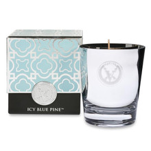 Votivo Holiday Collection Icy Blue Pine Glass Candle