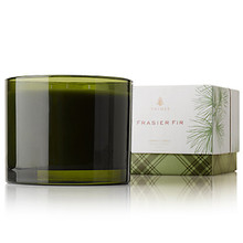 Thymes Fraser Fir Collection Three Wick Glass Candle