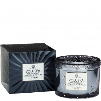 Voluspa Vermeil Collection Makassar Ebony & Peach Boxed Candle