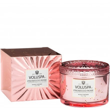 Voluspa Vermeil Collection Prosecco Rose Boxed Candle