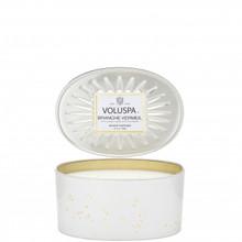 Voluspa Vermeil Collection Branche Vermeil 2-Wick Oval Decorative Tin Candle
