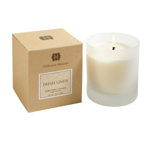 Hillhouse Naturals Fresh Linen Glass Boxed Candle
