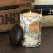 Himalayan Trading Post Campfire Large White Spice Tin Candle