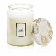 Voluspa Japonica Collection Nissho Soleil Large Embossed Glass Jar Candle