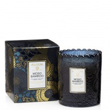 Voluspa Japonica Collection Moso Bamboo Limited Edition Scalloped Edge Glass Candle
