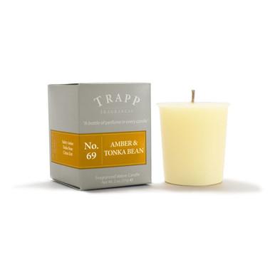 No. 69 Trapp Candle Amber & Tonka Bean - 2oz. Votive Candle