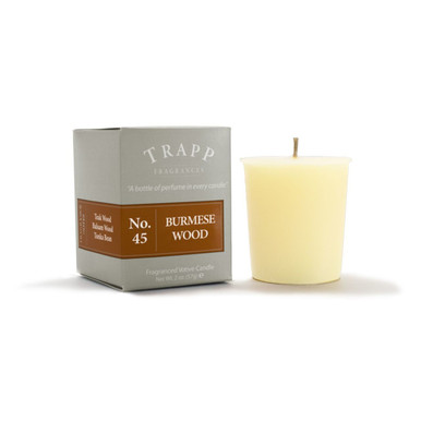 No. 45 Trapp Candle Burmese Wood - 2oz. Votive Candle