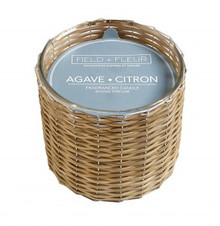 Hillhouse Naturals Agave Citron Hand Woven 2-Wick Candle