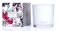 Biren & Co Lily Vanille Boxed Candle Flora Collection
