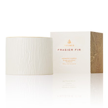 Thymes Frasier Fir Collection Ceramic Candle