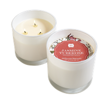 Hillhouse Naturals Jasmine Tuberose 3-Wick Glass Candle