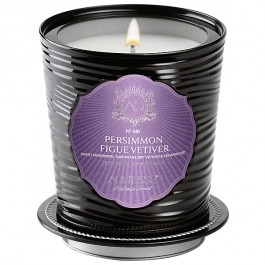 Aquiesse Portfolio Collection Persimmon Figue Vetiver Tin Candle With Matchbook