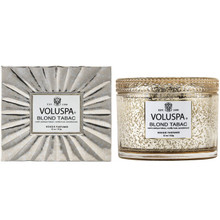 Voluspa Vermeil Collection Blond Tabac Boxed Candle
