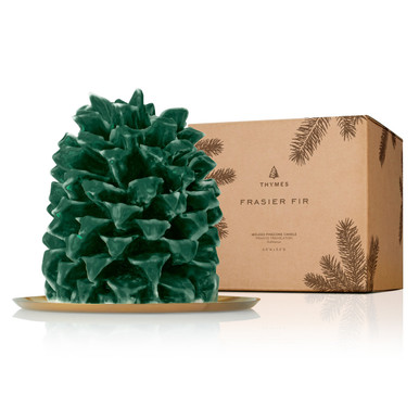 Thymes Frasier Molded Pine Cone Large Candle