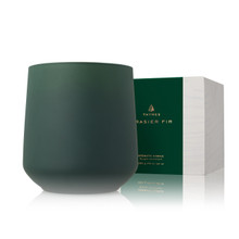 Thymes Frasier Fir Joyeux Poured Green Glass Large Candle