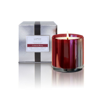 LAFCO Holiday Collection Crimson Berry Limited Edition Glass Candle