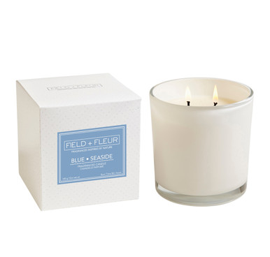 Hillhouse Naturals Blue Seaside 2-Wick Glass Candle