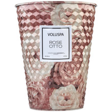 Voluspa Roses Collection Rose Otto 2-Wick Tin Table Candle