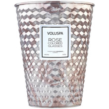 Voluspa Roses Collection Rose Colored Glasses 2-Wick Tin Table Candle