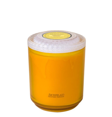 Archipelago Couleur Collection Pineapple Ginger Glass Candle