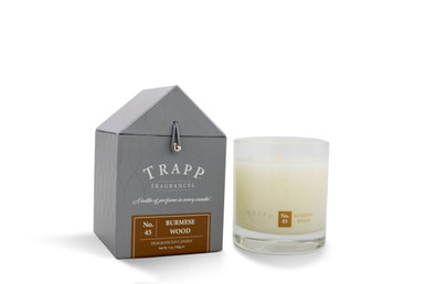 Beau 45 Trapp Candles Burmese Wood   7oz. Poured Candle