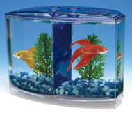 Penn Plax Twin Beta Bow-Front Kit for Aquarium