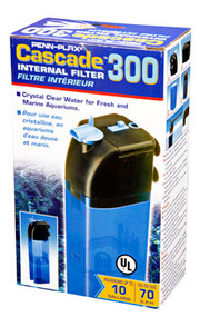 Penn Plax Cascade 300 Internal Filter for Aquariums Up to 10 gallons