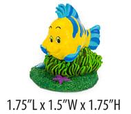 Penn Plax Little Mermaid Flounder Aquarium Ornament Mini