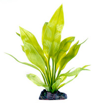 Penn-Plax 11 inch Artificial Amazon Sword Plant with Heavy Weight Base