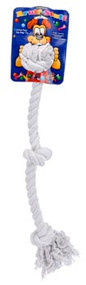 Penn Plax 3-Knot Dog Rope Toy Ruff Large White