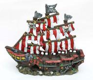 Penn-Plax Sail Shipwreck Ornament Small