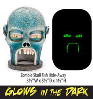 Penn-Plax Zombie Skull Hideaway Ornament