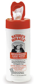 Nature's Miracle Deodorizing Cage Wipes for Small Animals