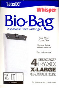 Tetra Whisper Bio-Bag Cartridge Unassembled X-Large 4-Pack