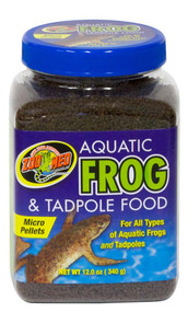 Zoo Med Aquatic Frog and Tadpole Food 12oz