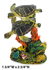 Penn Plax Swimming Sea Turtle Aquarium Decor Small