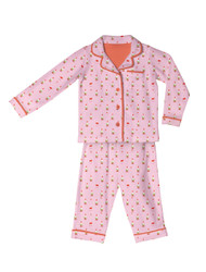 Pink Gnomes Kids Flannel Classic PJ Sets