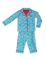 Sock Monkey Kids Flannel Classic PJ Sets