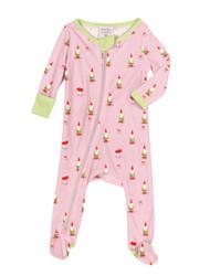 Garden Gnomes Infant Rib Zip Front Blanket Sleepers