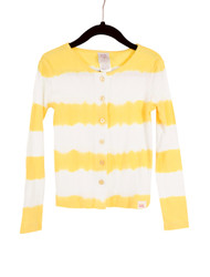 Cardigan Dyed Stripe-Yellow