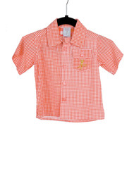 Gingham Camper Shirt-Red