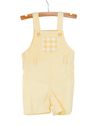 Gingham Overalls Yellow